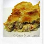 Ricette veloci: lasagne bianche di pane carasau con ratatouille di verdure e fonduta leggera