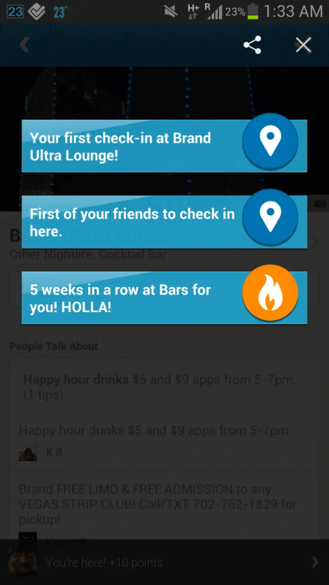 BiSC and Las Vegas 2013 — Foursquare — Check-in at Brand Ultra Lounge
