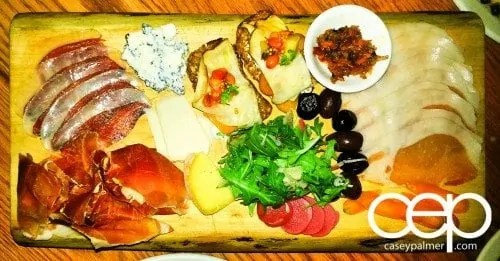 Piatto Grande (shared sampling of cured meats, cheeses, small tastes and accompaniments) ..... $29
