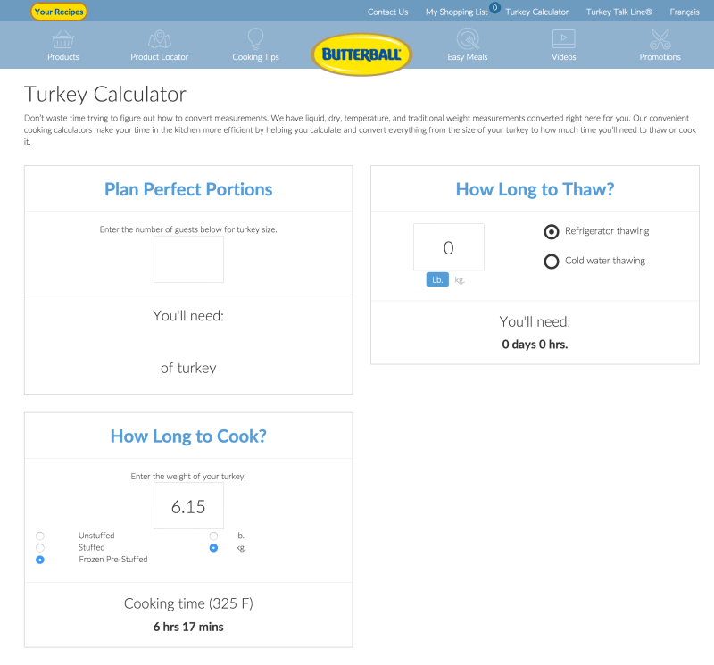 #ButterBallMakesItEasy — Can Butterball Canada Turn Casey From a Kitchen Turkey to a Cooking Whiz — Butterball Turkey Calculator