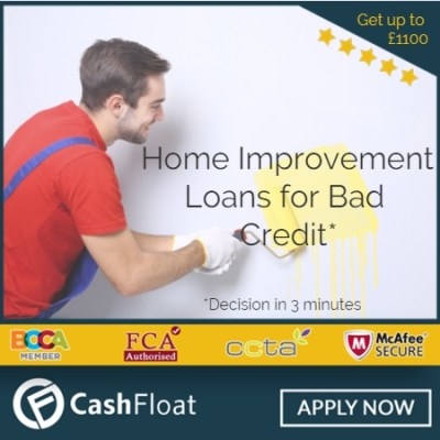 Home Improvement Loans - make your home beautiful with Cashfloat
