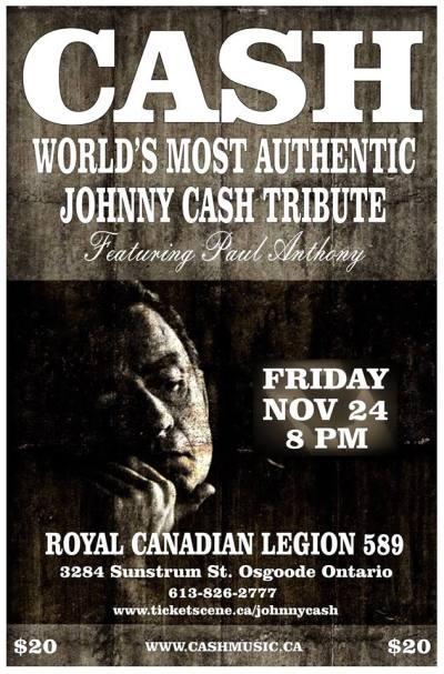 Johnny Cash Tribute Band - Canada Tour Dates | Cash Music