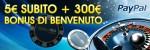 Un Fantastico Bonus Gratis Di Euro Con Paypal Vi Aspetta Sul