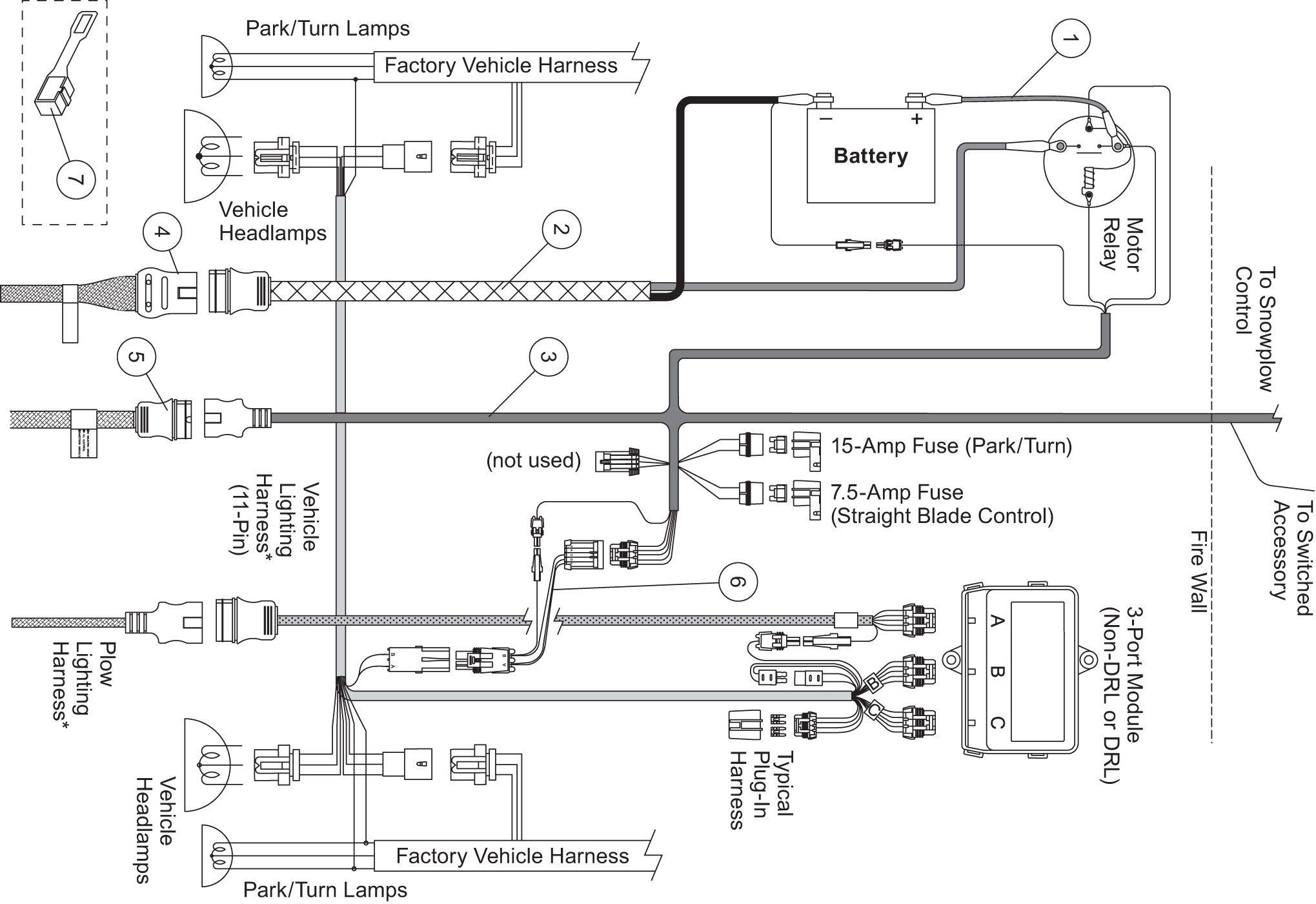 salt spreader controller wiring diagram
