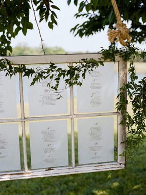 Table and Seating Charts @ Mt Hood Organic Farms Weddings