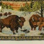 Vintage Bison Tapestry