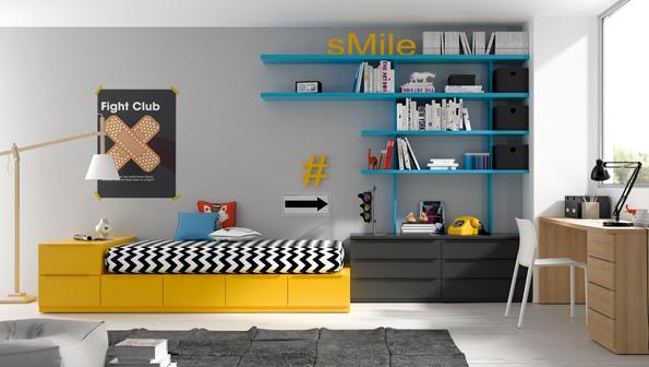 01 Jóvenes dormitorio moderno