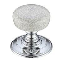 Porcelain Door Knobs - Crackled Grey Nickel and Chrome ...