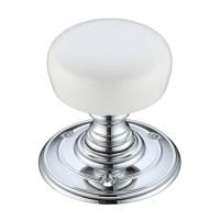 Porcelain Door Knobs - White Finish Nickel and Chrome Door ...