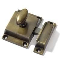 Antique Brass Cabinet Latch Cast Iron Door Bolts | Bolts ...