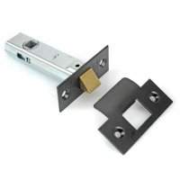 Tubular Mortice Latch - Black End Plates Door Locks and ...