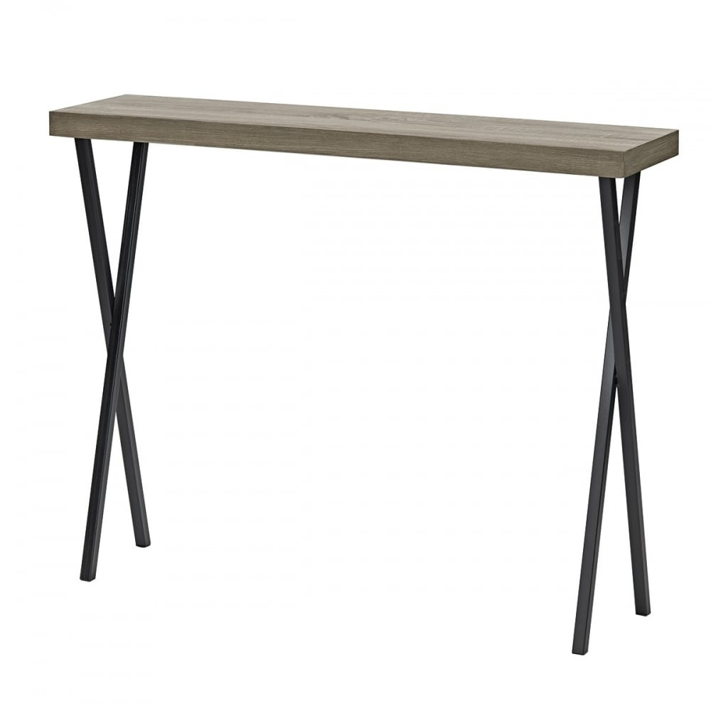 Dar Homewares Data Console Table In Oak Wood Effect And