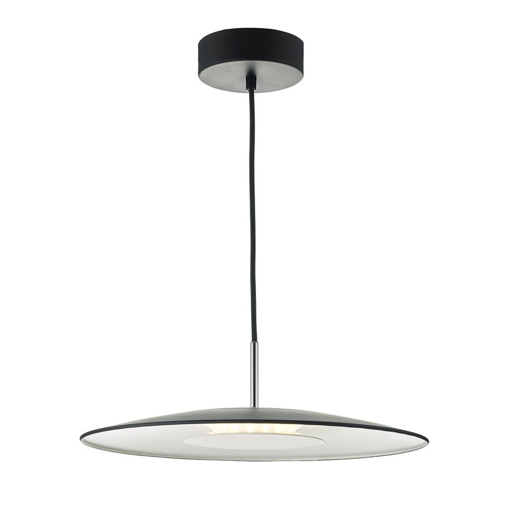 Dar Lighting Enoch Single LED Ceiling Pendant in Black and