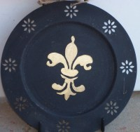 Fleur de Lis Plates & Rack | Castle Home Designs
