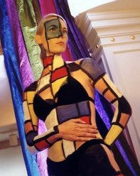 Mondrian Statue