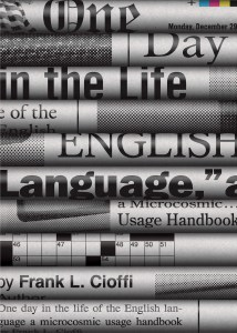 One Day in the Life of the English Language design Chris Ferrante