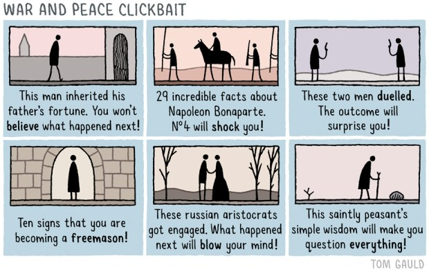 War and Peace Clickbait Tom Gauld