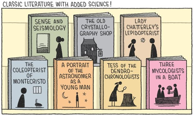 science versus fiction tom gauld