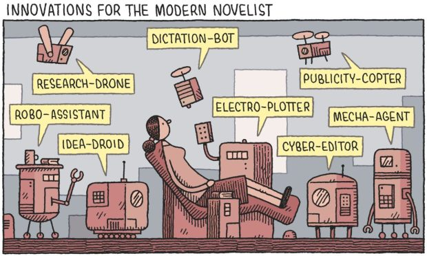 innovations for the modern novelist Tom Gauld