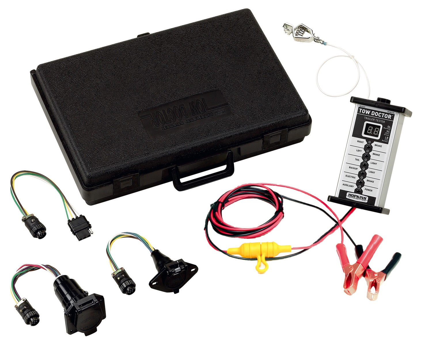 Trailer Harness Tester Auto Electrical Wiring Diagram Hopkins Towingr 48655 4wire Flat With Led Lights