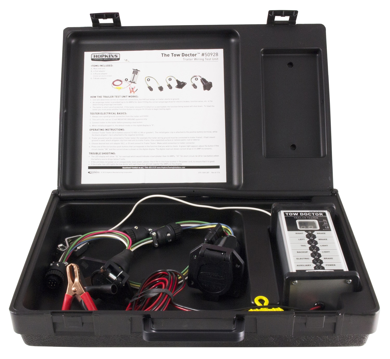 Trailer Harness Tester Auto Electrical Wiring Diagram Hopkins Towingr 48655 4wire Flat With Led Lights New Towing Solution Wire Test Unit