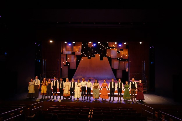 The cast of Spring Awakening onstage.