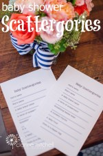 Free Printable Baby Shower Game Scattergories