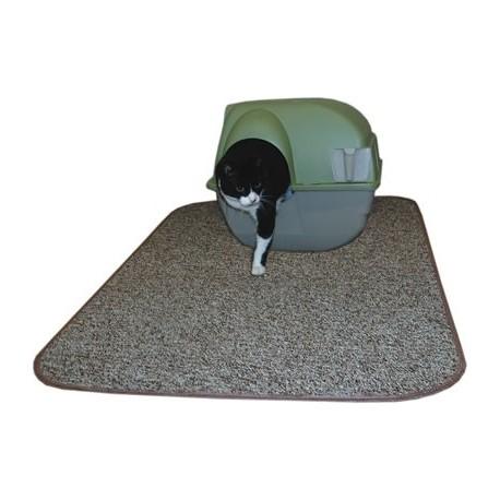 brown cat litter box mat to stop kitty litter tracking