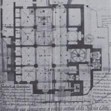 Plano Catedral Obispado de Cartagena principio siglo sXIX