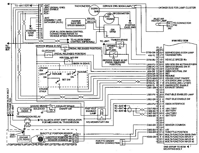engine wiring diagram ce9a workshop