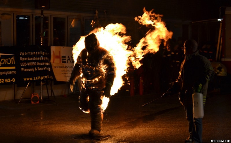 Man Who Gets Set On Fire For A Living Looks Like Human Torch