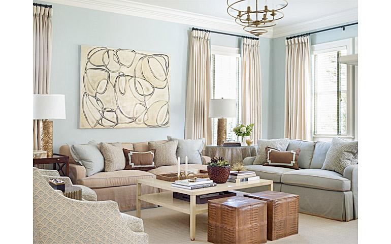 Catherine M. Austin Interior Design/ Westfield Family Room/  Amanda Talley Artist