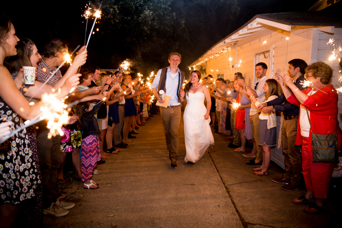Sparkler exit-Minnesota Farm Wedding photographers