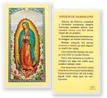 Virgen De Guadalupe Madre Laminated Spanish Prayer Cards Pack From