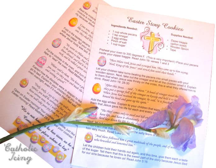 How To Make Easter Story Cookies {With a Printable Recipe!} - free printable religious easter cards