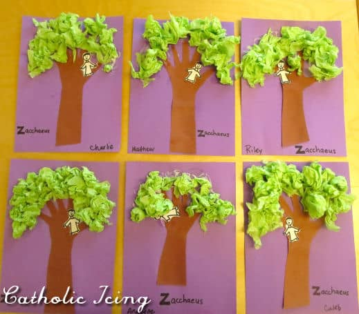 Bible Craft For The Letter Z- Zacchaeus In A Tree