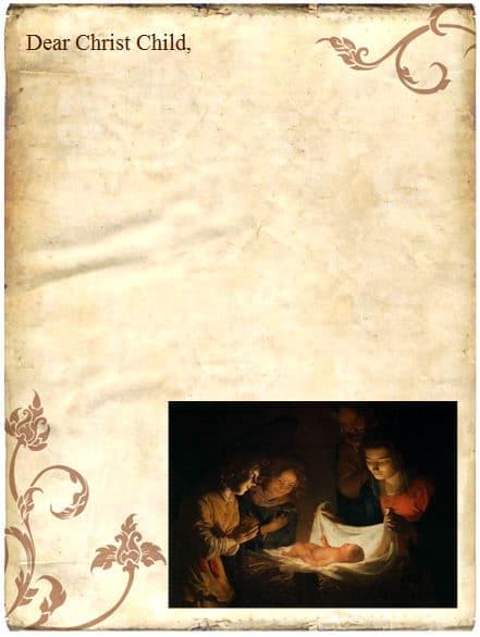christmas template letter