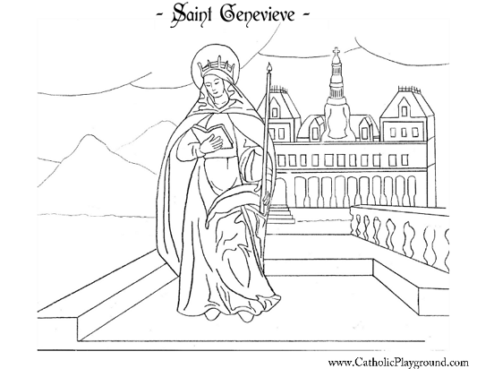 St Agnes Coloring Page - Sanfranciscolife