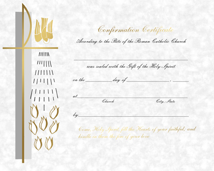 Confirmation Certificate Template - Design Templates