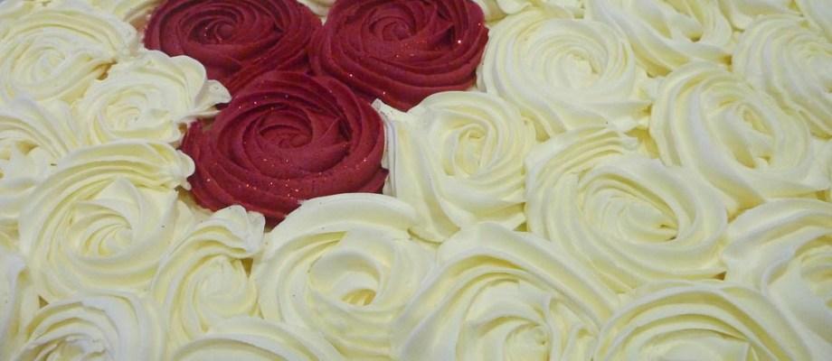Red Velvet Rose Cake for Inner Wheel
