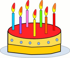 Birthday cake with candles links to MP3 download