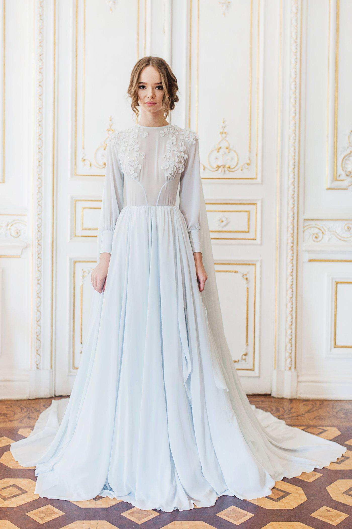 Fullsize Of Blue Wedding Dress