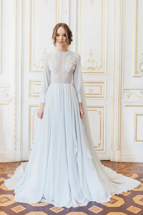 Medium Of Blue Wedding Dress