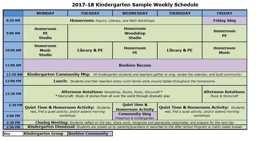 Catlin Gabel School Schedule - sample school calendar