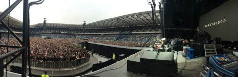 Supporting Foo Fighters, Murrayfield Stadium, Edinburgh