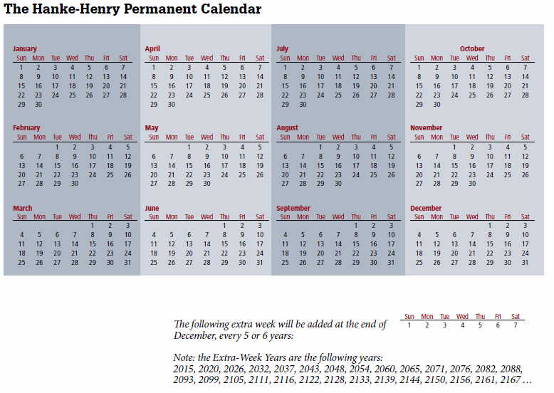 Time for a Change? Calendar Overhaul Proposed