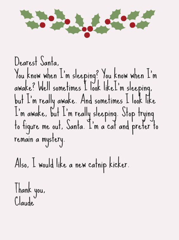 What Happens When 8 Cats Write Letters to Santa - Catster