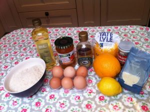 ingredients for marmalade cake