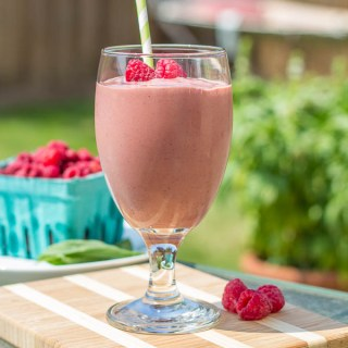 Raspberry Basil Smoothie