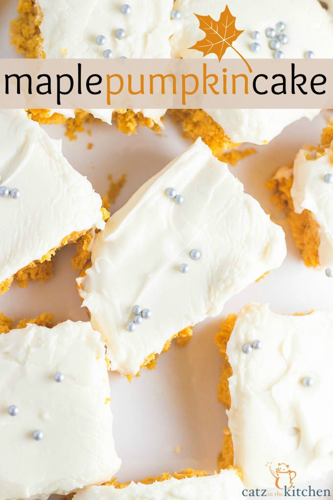 Maple Pumpkin Cake | Catz in the Kitchen | catzinthekitchen.com | # ...